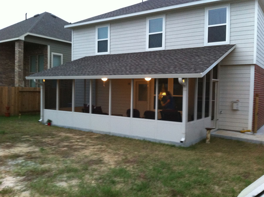 Aluminum Patio Cover Insulated Patio Cover Before Shingles Insulated Screen  Room With Shingles ...