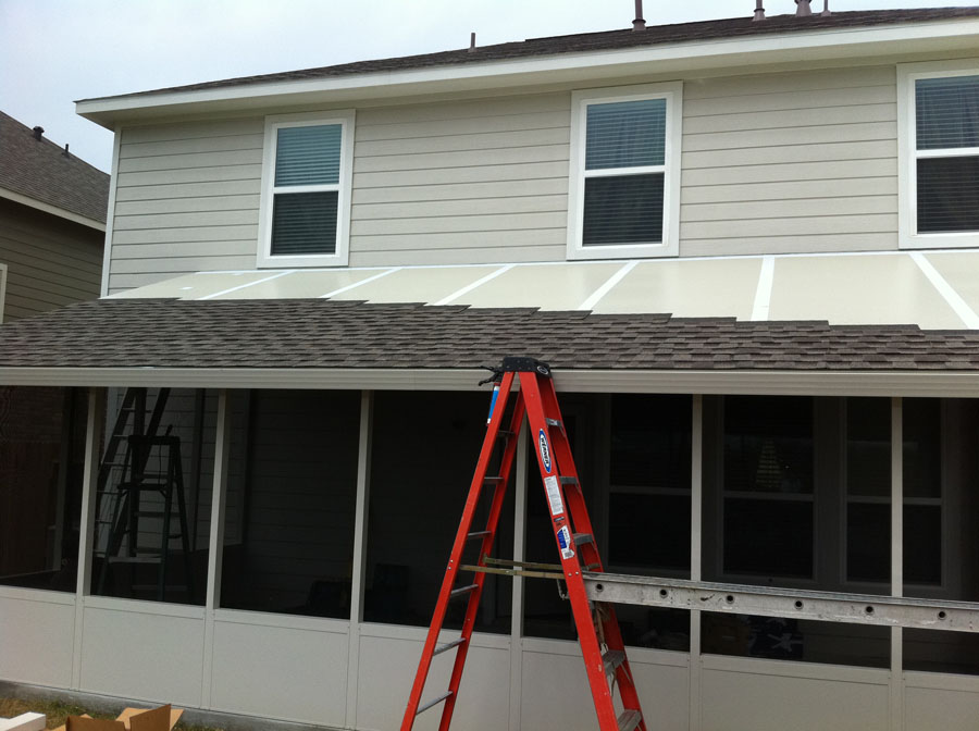 Insulated Roof partially shingled