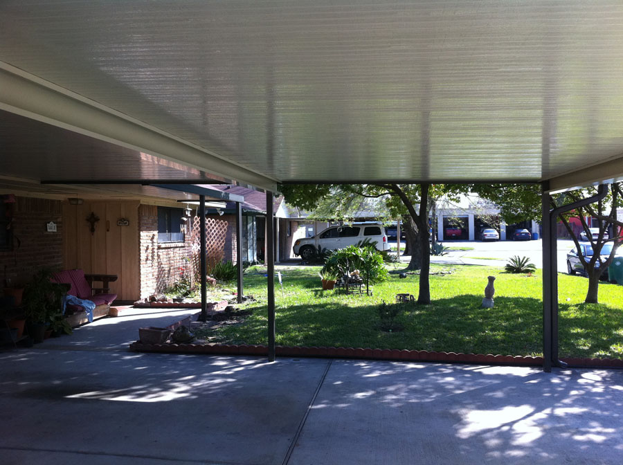 Aluminum Carport with Walkway Cover