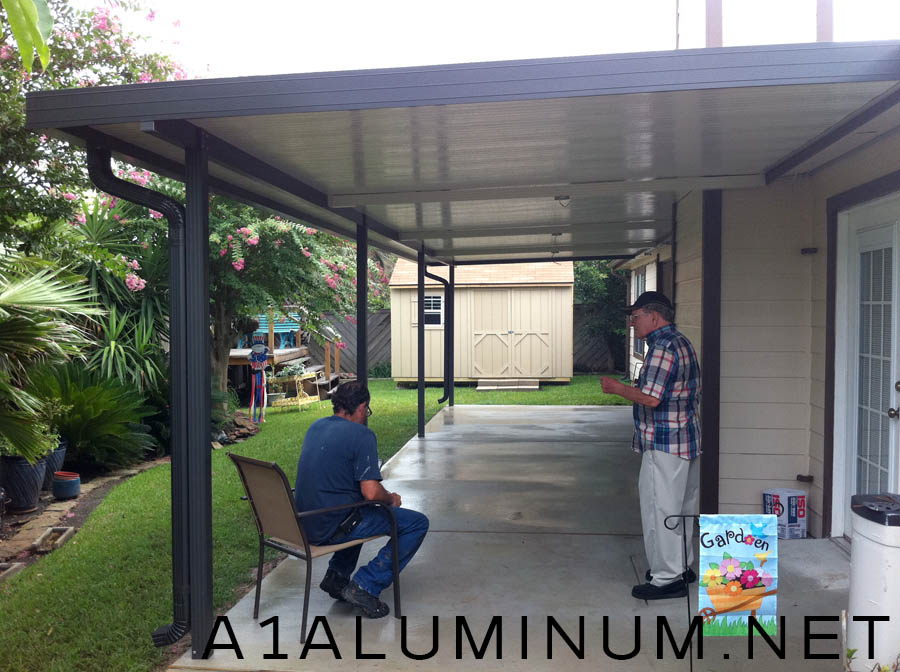 Aluminum Patio Cover With Fan Beams In Clear Lake 187 A 1