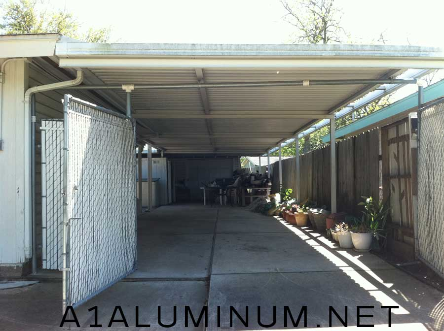 Carport with false front