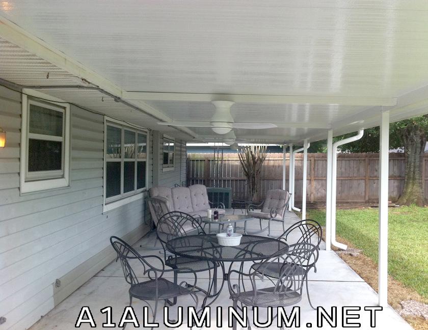 Aluminum Patio Cover in Flat Pan