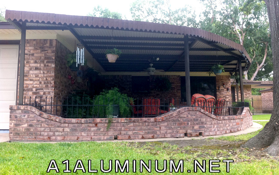 Curved Aluminum Patio Cover In Houston, TX