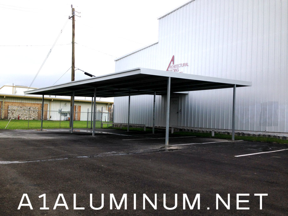 Commercial Steel Carports : Walkway covers a