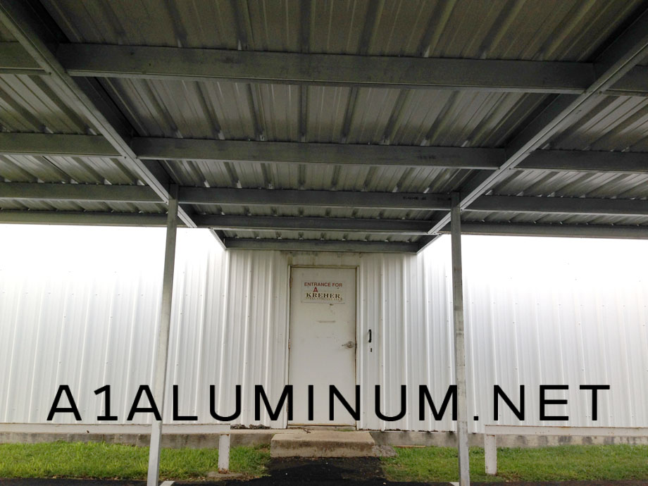 Commercial Steel Walkway Cover