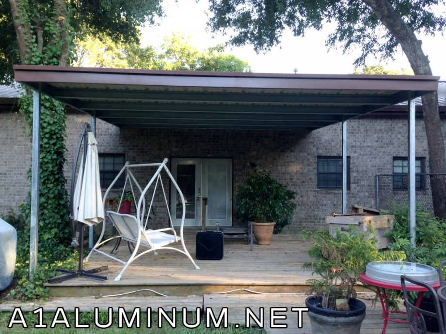 steel patio cover in baytown 187 a 1