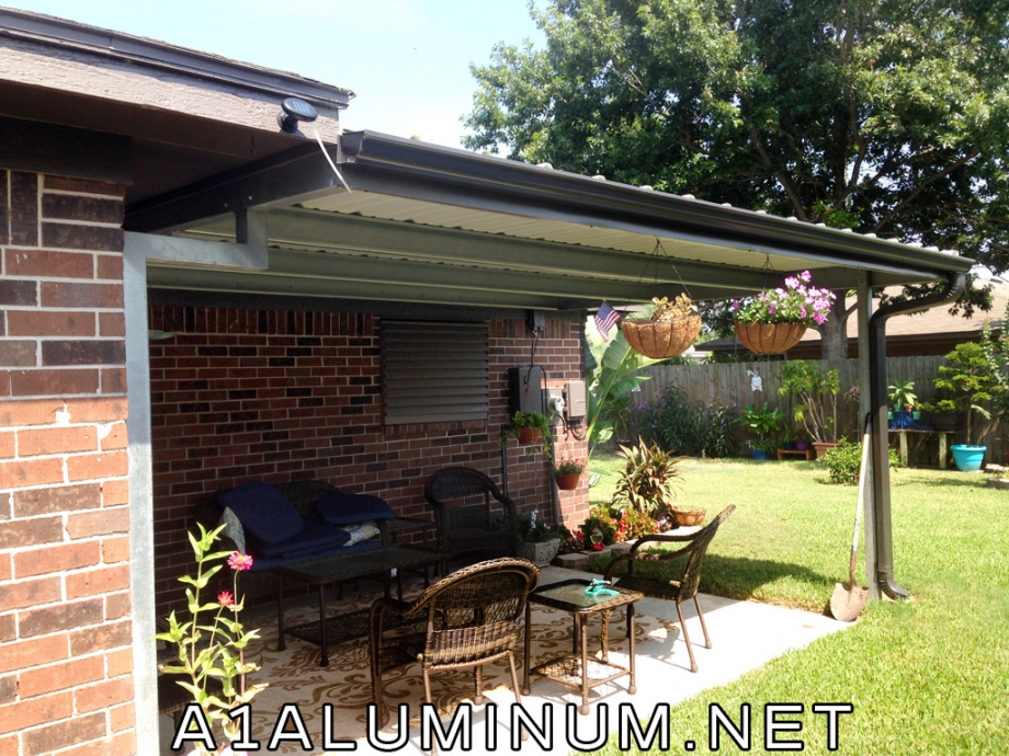 Nice Patio Cover with Offset Post