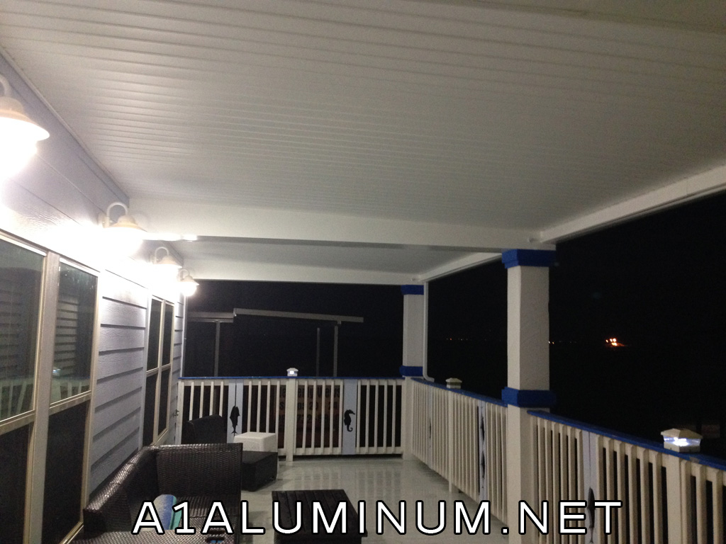 Upper Deck AFTER the soffit was installed