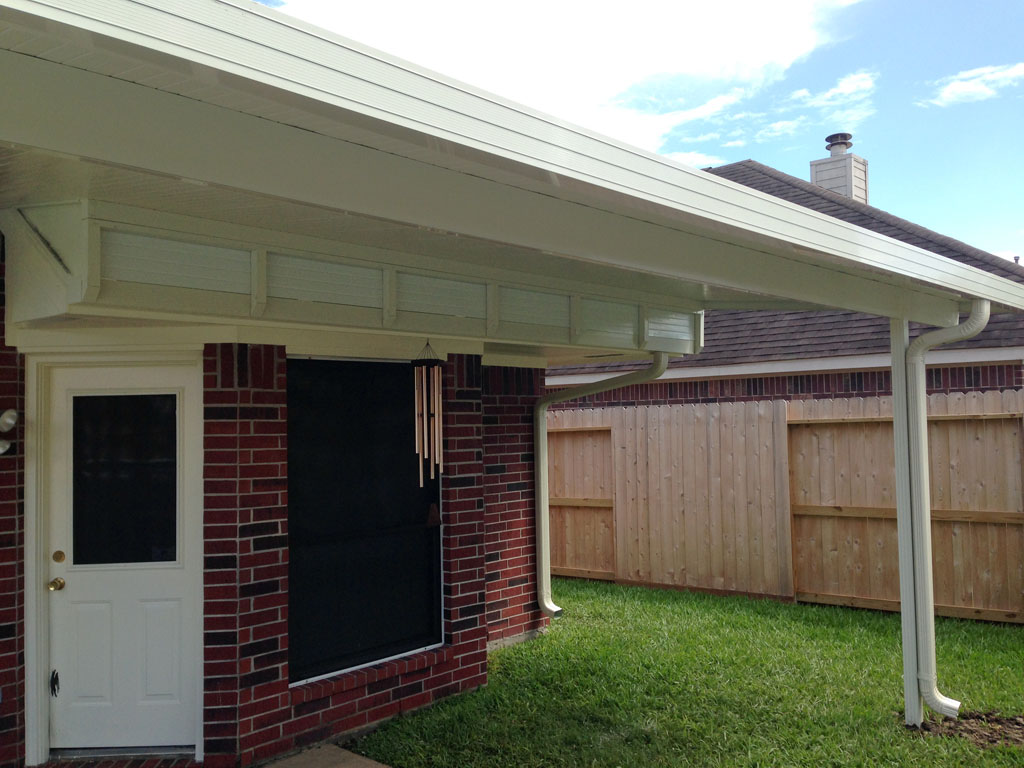 Patio Cover with raised attachment